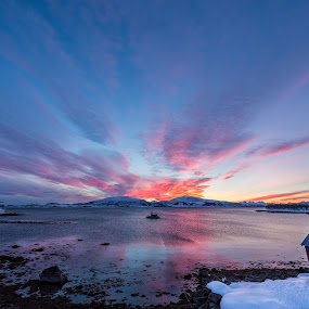 Sunset red by Benny Høynes - Landscapes Sunsets & Sunrises ( canon, mountain, red, nature, sunset, norway )