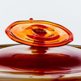 by Ben Porway - Abstract Water Drops & Splashes ( water, highspeed, red, liquid, splash, drop, collision )
