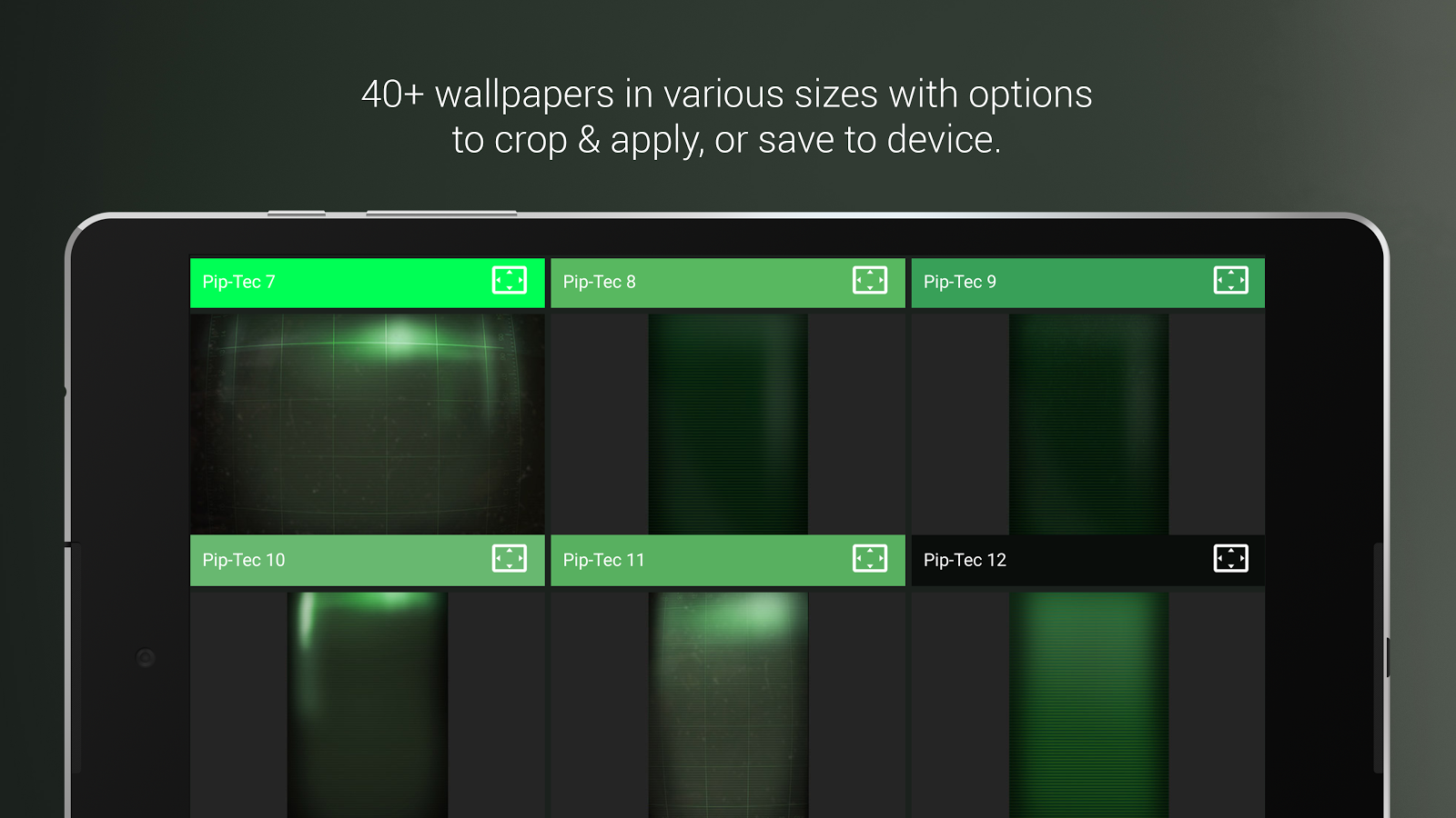 PipTec Green Icons & Live Wall Screenshot 15