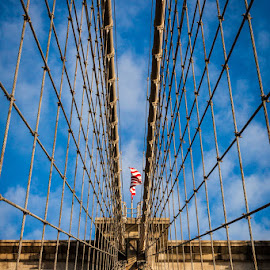 Brooklyn Bridge.  by George Petropoulos - Buildings & Architecture Bridges & Suspended Structures