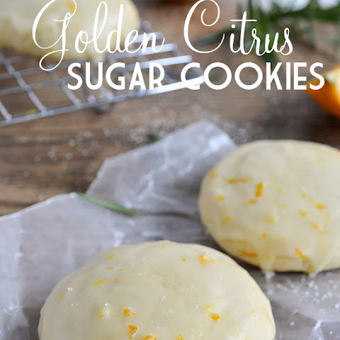 Golden Citrus Sugar Cookies