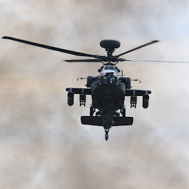 Apache by Tony Berry - Transportation Helicopters ( helicopter, aircraft.military, apache, smoke )