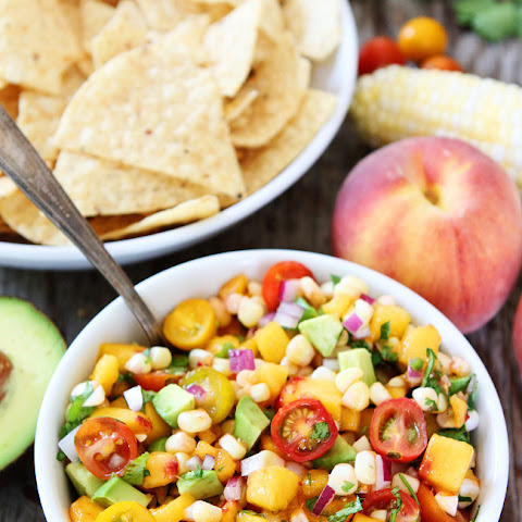 Peach, Corn, and Avocado Salsa
