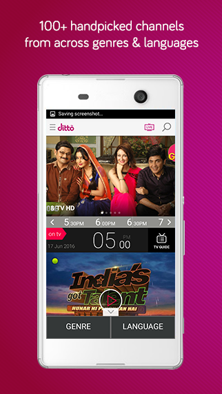 dittoTV: Live TV shows channel Screenshot 0
