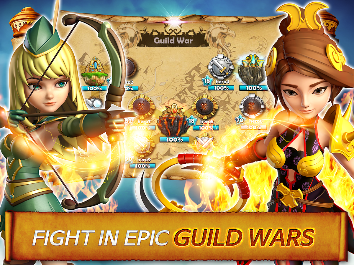 Hero Sky: Epic Guild Wars Screenshot 1