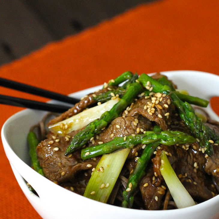 Sesame Beef and Asparagus Stir-Fry Recipe | Yummly