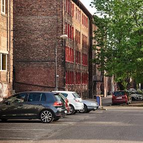 A walk around the old quarter of Katowice - Nikiszowiec. by Marek Rosiński - Buildings & Architecture Public & Historical ( historic district, historic buildings, city, buildings, avenue, old buildings, alley, building exterior, architecture )