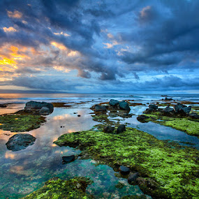 Sunrise Sawarna by Edwin Kosasih - Landscapes Sunsets & Sunrises ( sawarna, sea, sunrise, landscape, banten )