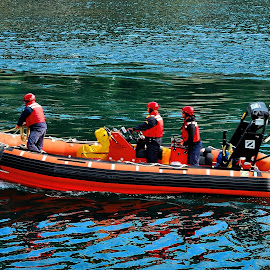 Always Ready by Harold Bradley - Transportation Boats ( water, craft, ship, guard, rescue, fast, boat, professional, coast )
