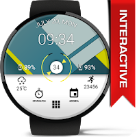 Material Interactive WatchFace For PC (Windows And Mac)