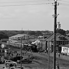 Depot b&w by Amy Barker-Rollins - City,  Street & Park  Historic Districts