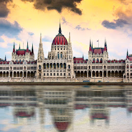 Budapest Parliment by Blair Wright - Buildings & Architecture Public & Historical ( hungary, reflection, budapest, europe, budapest parliment, parliment, buildings, danube, danube river, travel photography )
