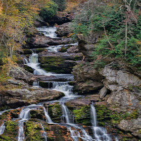 Ancient River by Brian Young - Landscapes Waterscapes ( cashiers, mountains, waterfall, blue ridge )