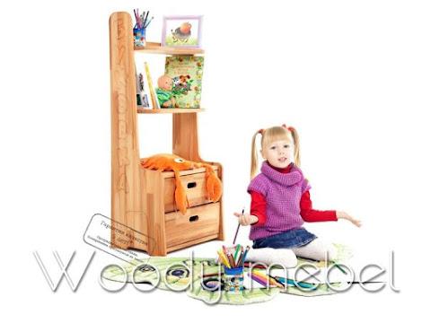 Детская мебель: Стеллаж буковка -50%