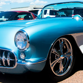 Chrome Smile by Andrew Brinkman - Transportation Automobiles ( corvette, vette, sports car, cars, hot rod, classic )