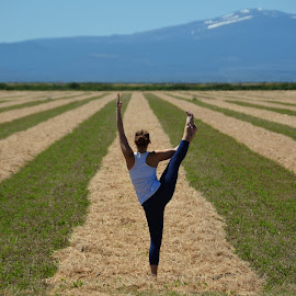 Rise Above the Chaff! by Donald Casad - Sports & Fitness Fitness ( field, mountain, girl, yoga )