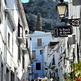 Frigiliana, Spain by Francis Xavier Camilleri - City,  Street & Park  Street Scenes