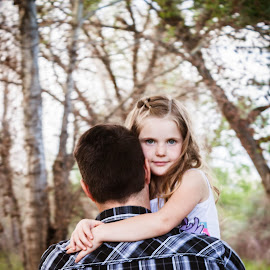 Father and Daughter by Valerie Higgs - People Family
