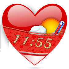 Valentine Weather Clock Widget