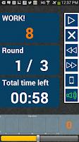 Screenshot of HIIT interval training timer