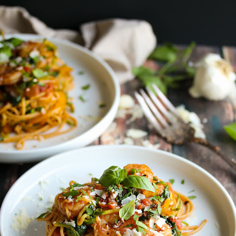 30 Minute Shrimp Pasta Primavera with Zoodles