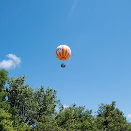 Balloon Ride by Kimberly Gibson - Transportation Other ( hot air balloon, indiana, park, hamilton county, 2016, fishers, summer, conner prairie )