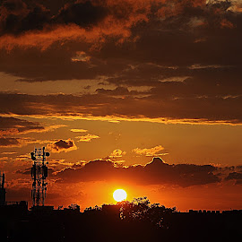 Stunning view of  sunset from balcony. by Satyajeet Biswas - Landscapes Sunsets & Sunrises (  )