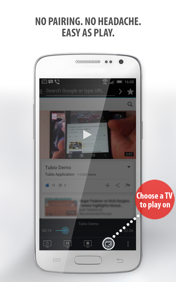 Tubio - Cast Web Videos to TV Screenshot 2