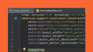 An Android device with code.