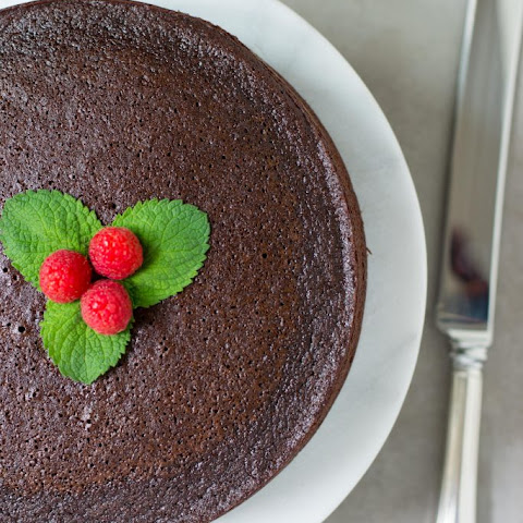 Chocolate Avocado Oil Cake with Raspberry Chia Filling