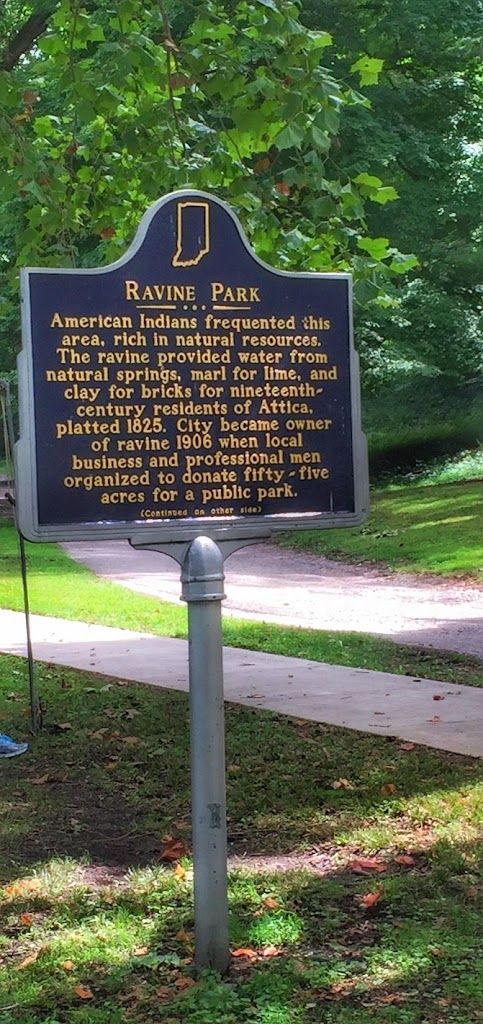 Ravine Park American Indians frequented this area, rich in natural resources. The ravine provided water from natural springs, marl for lime, and clay for bricks for nineteenth- century residents of ...