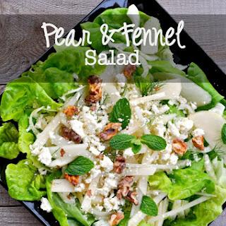 Pear Fennel Blue Cheese Salad Recipes