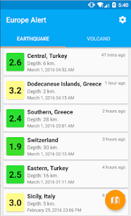 Europe Alert screenshot for Android