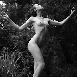 Flesh and Blood Goddess by ObjeKtiva Artphoto - Nudes & Boudoir Artistic Nude ( art nude, nude, black and white, elegance, artistic nude, beauty, goddess, posing, sensual, statue, sexy, nature, woman, feeling, artistic, rain )