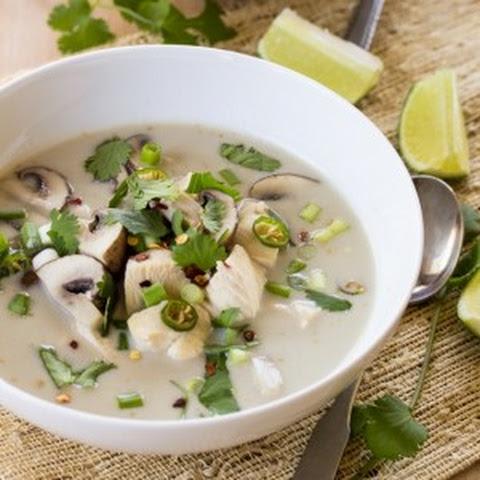 Thai Coconut Chicken Soup (Tom Kha Gai) With Mushrooms Recipes ...