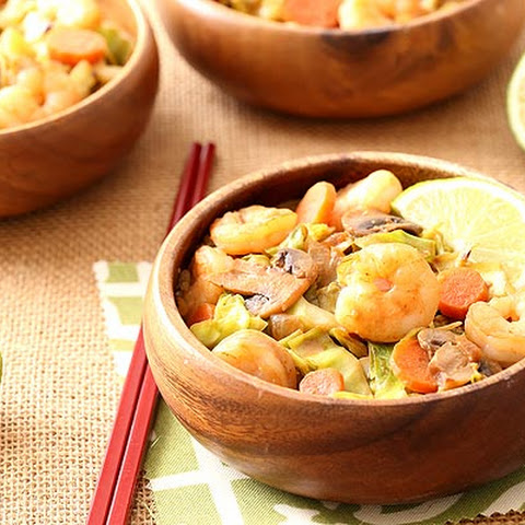 "Thai Sweet Chili Shrimp With Cabbage ""Noodles"""