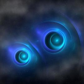 Through the Eyes by Nancy Bowen - Illustration Sci Fi & Fantasy ( clouds, stars, cosmic, eyes )