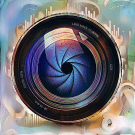 Lens Shutter by Michael Brunsfeld - Digital Art Things ( shutter, camera, lens )