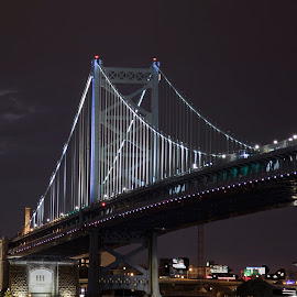 Ben Franklin Bridge by Mary Malinconico - Buildings & Architecture Bridges & Suspended Structures ( ben franklin, bridge )