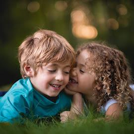 Tell me a secret by Mike DeMicco - Babies & Children Child Portraits