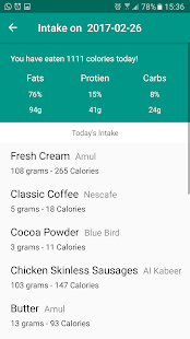 Macro Tracker Fitness app screenshot for Android