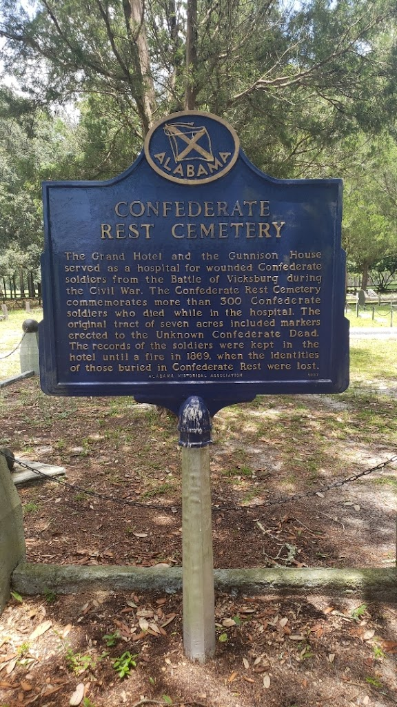 The Grand Hotel and the Gunnison House served as a hospital for wounded Confederate soldiers from the Battle of Vicksburg during the Civil War. The Confederate Rest Cemetery commemorates more than ...