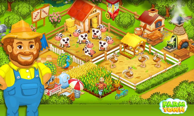 Farm Town:Happy City Day Story Screenshot 1