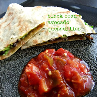 Black Bean and Avocado Quesadilla – #glutenfree #vegan