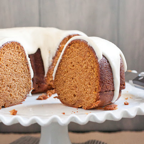 Pumpkin Bundt Cake with Cream Cheese Frosting