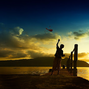 Kite Boy by Aris Winahyu BR - Babies & Children Children Candids ( kite, boy )