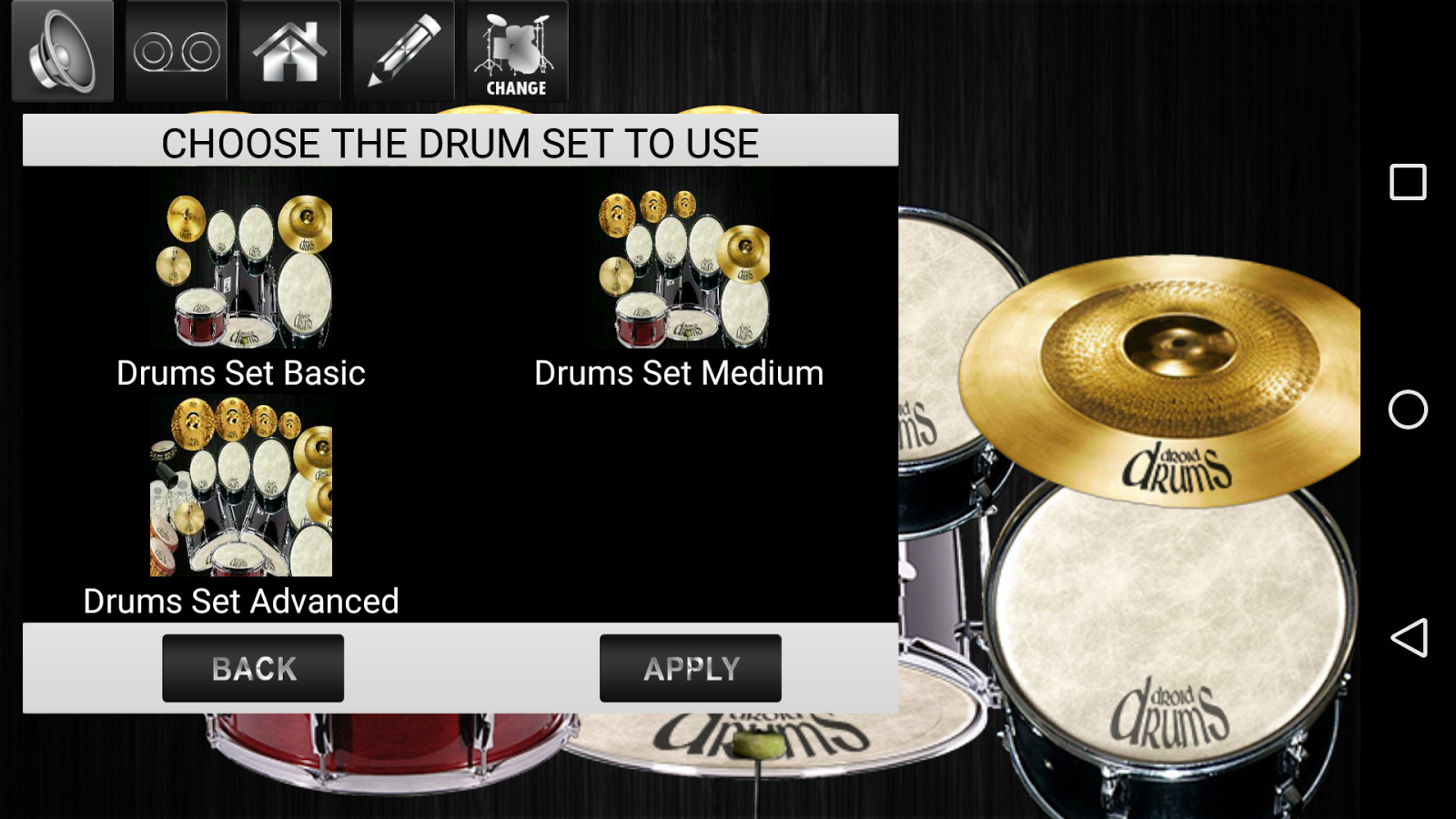 Drums Droid HD 2016 Screenshot 2
