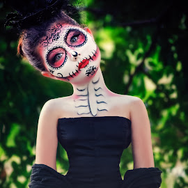 Day of the dead by Charlotte Hellings - People Body Art/Tattoos ( colour, different, love, concept, color, teen, beauty, portrait, colours )