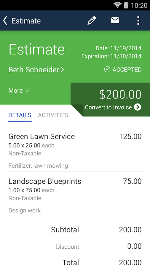 QuickBooks Accounting+Invoice Screenshot 2