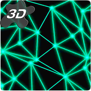 Neon Particle Plexus 3D Live Wallpaper
